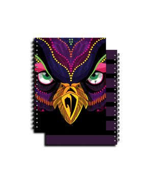 YM Sketch 0105 Owl - Notebook A5 Side Wire