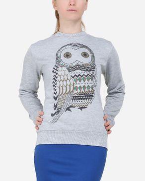 Be Positive Owl Sweatshirt - Heather Grey logo