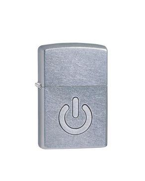 Zippo ZP-28329 Power Button Lighter - Street Chrome logo