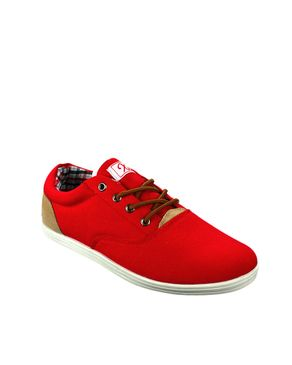 Xti Territory Red & Beige Canavas Casual Shoes logo