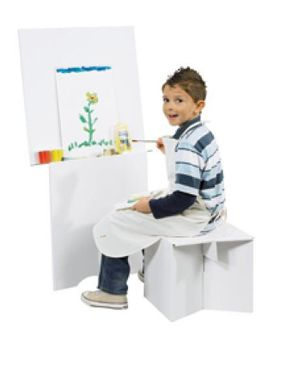 Villa Carton JP000.305 Easel with Stool -white