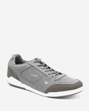 Wickers Suede Leather Sneakers - Dark Grey logo