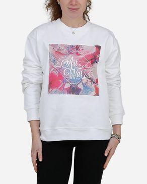 E-Nash Make Art Not War Sweatshirt - White logo