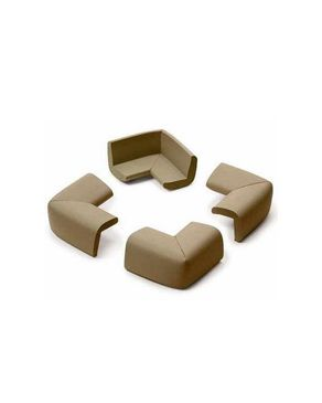 Prince Lionheart Cushiony Corner Guards - Chocolate Brown