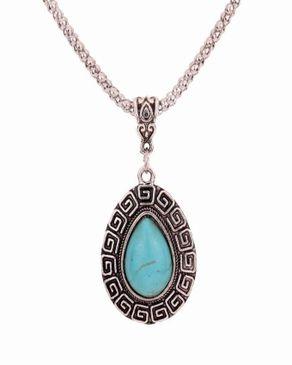 Dinardo Silver Plated Necklace with Tibetan Turquoise Stone logo