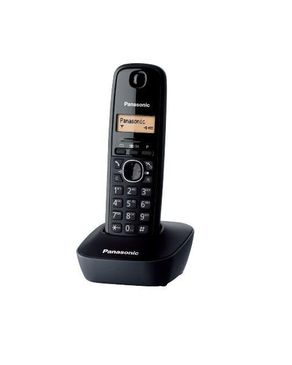 Panasonic KX-TG1611 Single Handset Cordless Telephone - Black