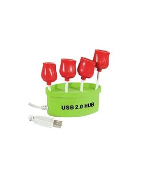 Generic Rose Flowerpot USB Hub - 4 Ports