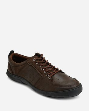 MORC Perforated Casual Shoes - Dark Brown logo