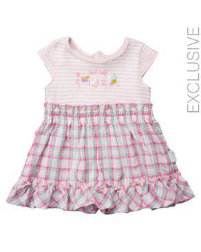 Stummer Pink Cotton Cap Sleeves Dress logo