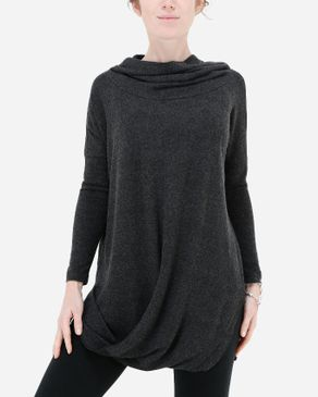 Hot Fashion Crisscross Hoodie - Heather Dark Grey logo