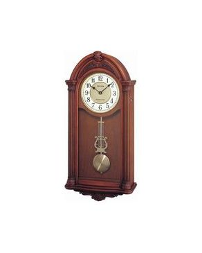 Rythm CMJ340SR07 Wall Clock - Brown