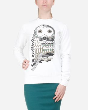 Be Positive Owl Sweashirt - Off White logo