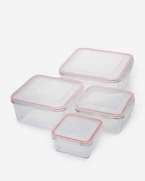 Shandong   Square Tempered Glass Container - Set of 4