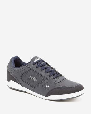 Wickers Suede Leather Sneakers - Navy logo