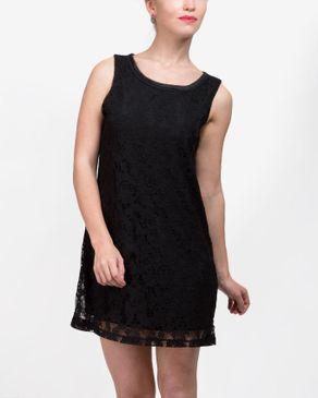 VERO MODA Sleeveless Lace Mini Dress - Black logo