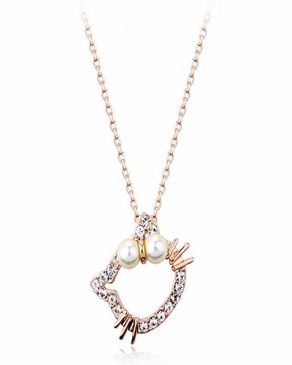 Dinardo Gold 18K Gold Plated Swarovski Necklace logo