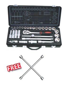 Compac Tool Kit - 29 pcs + Key to Change a Car Wheel FREE logo