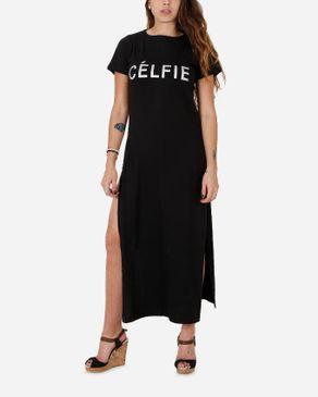 Be Positive CÉLFIE Long Top - Black logo