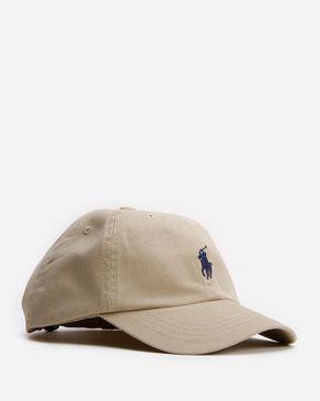 Ralph Lauren Kids Khaki Cotton Sports Cap with Adjustable Elasticated Back logo