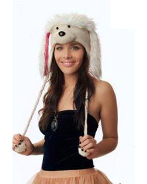 Panda Hats HB-WH061 Knit Poodle - Off White logo