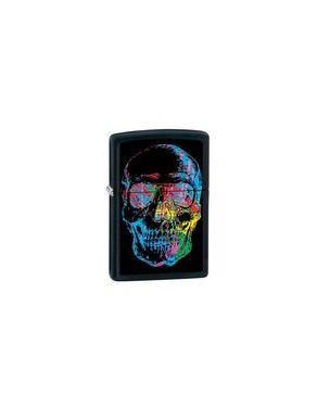 Zippo ZP-28042 Xray Skull Black Matte Lighter logo