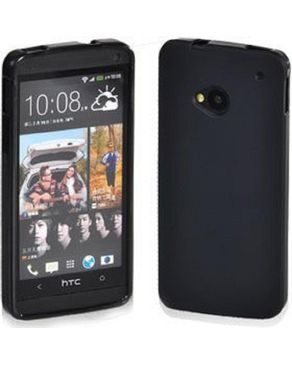 Generic Flexiable Smooth Feeling TPU Gel Case For HTC One/M7 - Black