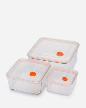 Shandong   Square Tempered Glass Container - Set of 3