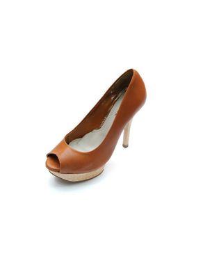 Viamarte Ladies/Women Genuine Leather Platform Shoes-9810-Havana logo