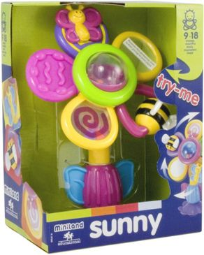 Miniland Educational Rattle Sunny Flower logo