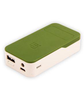 Pinmei PM-323 Power Bank 5200 mAh - Army Green & White