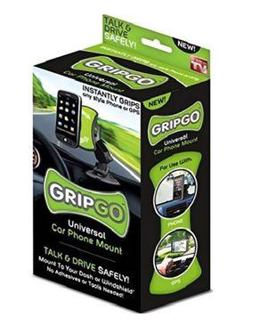 As Seen on TV GT00344 Grip& Go Universal Car Phone Mount logo