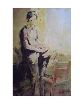 Easel and Camera 004ASMA Painting - 42 × 30 cm Without Frame