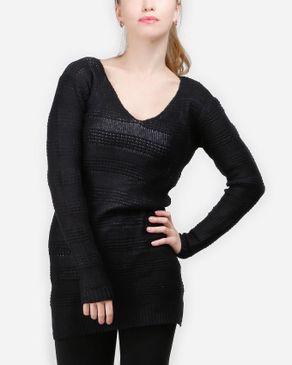 VERO MODA Only Knitted Tunic - Black logo