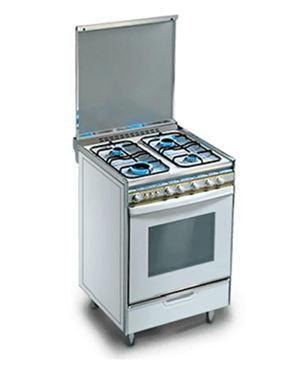 Kiriazi 6400 Gas Stainless Steel Cooker - 4 Burners - Full Safety
