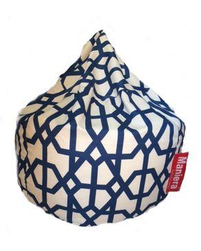 Maniera Oriental Bean Bag - Blue & White