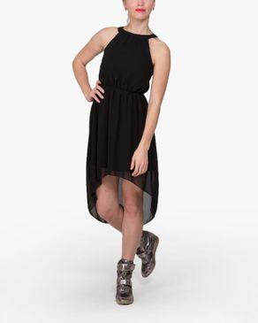 VERO MODA High-Low Mini Dress - Black logo