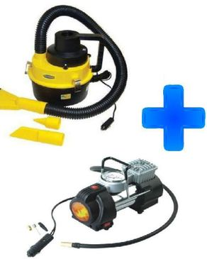 Compac Wet/Dry Canister Vacuum Cleaner + 1 Cylinder Car Air Compressor logo