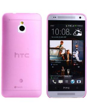 Generic Ultra-thin 0.5mm Transparent Matte Shell Cover Case For HTC One Mini M4 10 - Pink