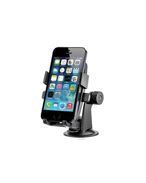 Compac Universal Car Suction Cup Mount Holder for Cell Phones - Black