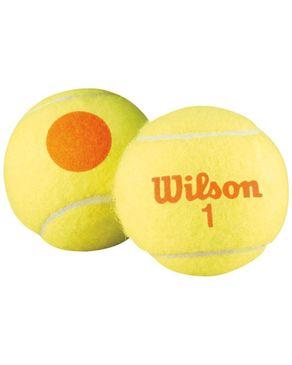 Wilson WRT137200 Starter Game 4 Tennis Ball orange logo