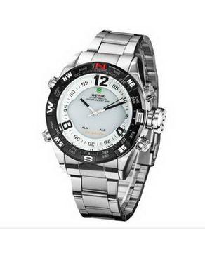 Weide Stainless Steel Watch - Silver logo