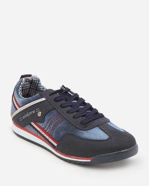 Wickers Denim Sneakers - Blue logo