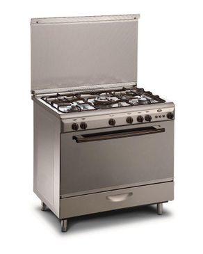 Kiriazi 9600 M Gas Stainless Steel Cooker - 5 Burners