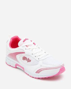 Wickers Women Running Shoes - White & Pink logo