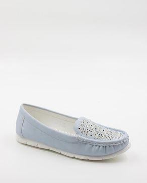 Walkies Blue PU Leather Shoes logo