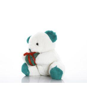 Mani Stuffed Teddy bear - White/Green