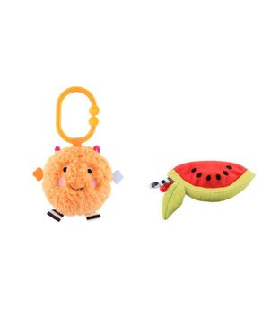Sassy  Non-sters: Bo-Bo Activity Ball Freezies Terry Teether + Watermelon