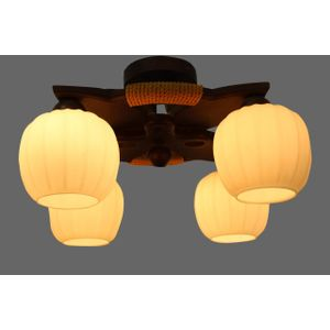 Modern Wood Ceiling Pendant 4 Lamps