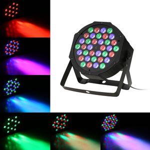 36LEDs RGB Plastic Mini Flat Stage Par Light DMX512 Sound