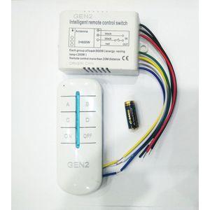 وحدة ريموت كنترول للتحكم في الاضاءه او الاجهزه الكهربائيه 4 خطوط